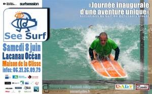 Affiche See Surf - Lacanau Surf Club 8 Juin